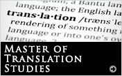 Master of Translation Studies